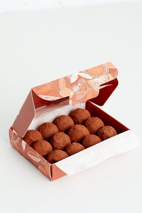 Dark Chocolate Zesty Orange Truffles Model Image