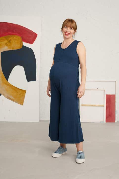 Maternity Bottle Vase Jumpsuit Model Image
