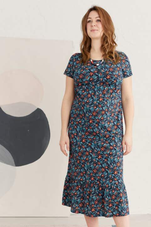Maternity Opal Glass Dress Model Image