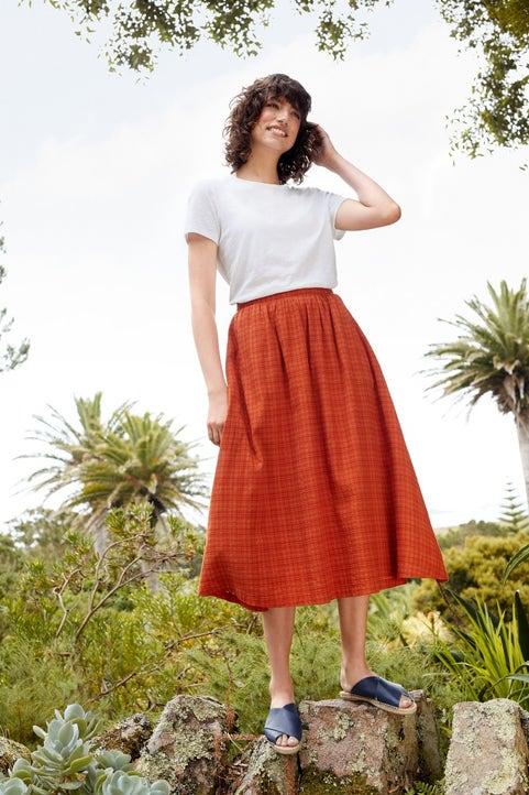 Wild Gorse Skirt Model Image