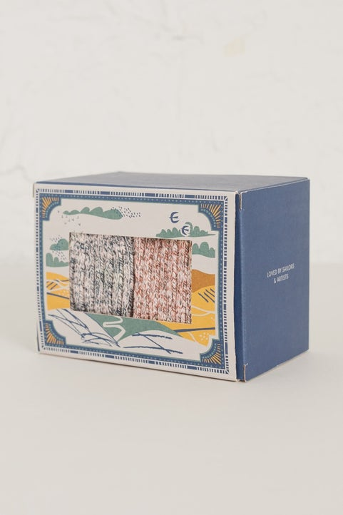 Men's Ley Lines Socks Box Of 2  Model Image