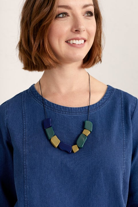Accent Lines Necklace Model Image