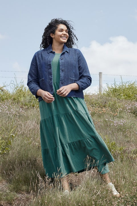Line Strokes Dress Model Image