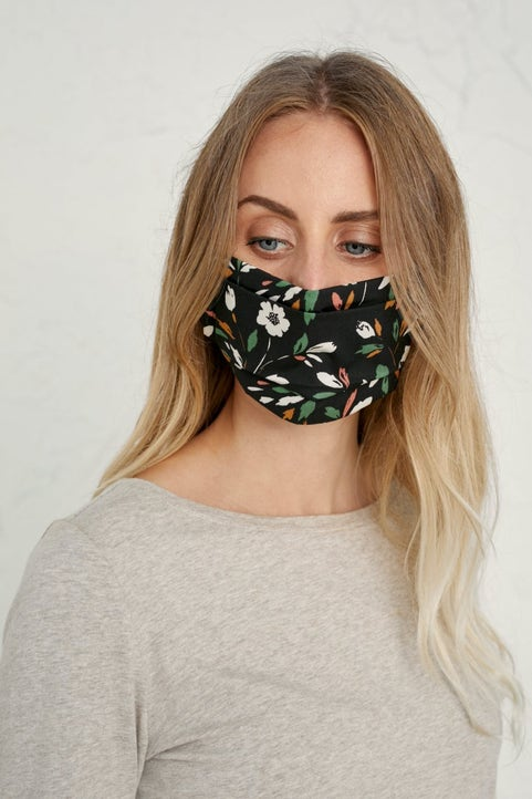 Pleated Fabric Face Coverings Image