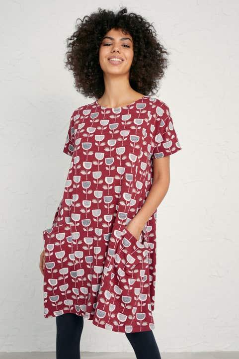Short-sleeved Mill Pool Dress  Model Image