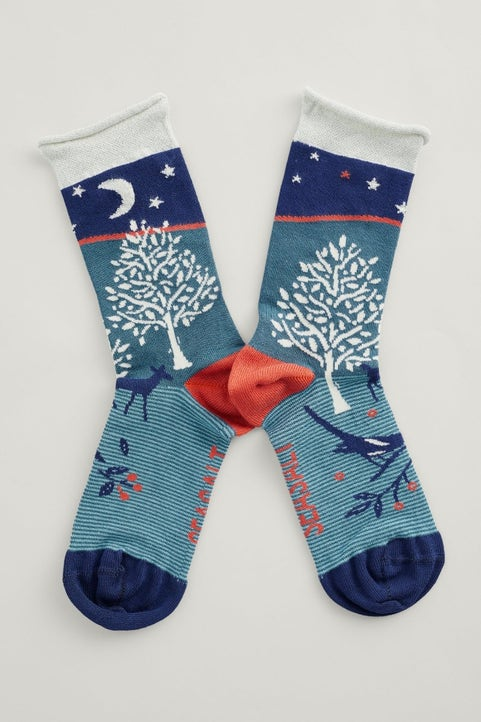 Snowy Scenes Socks Image