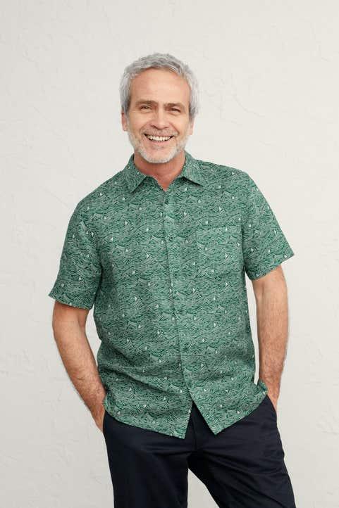 Men's Blue Heron Short Sleeve Shirt Image