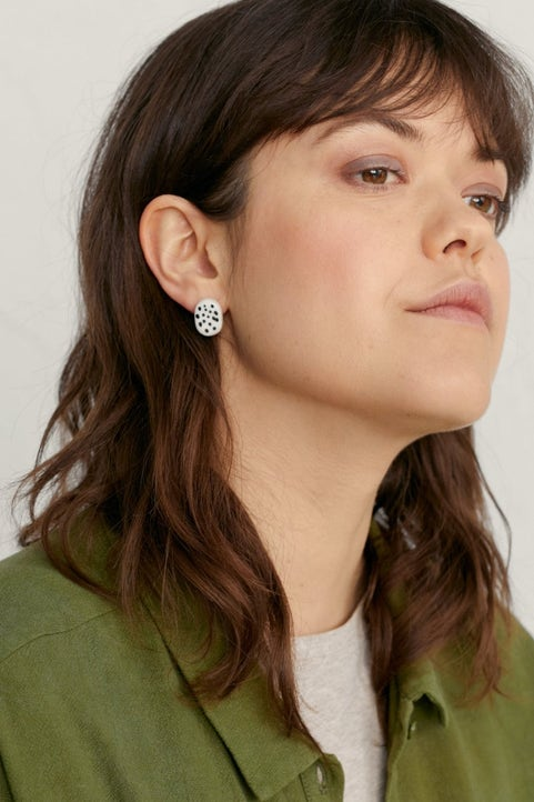Crafters Earrings  Model Image