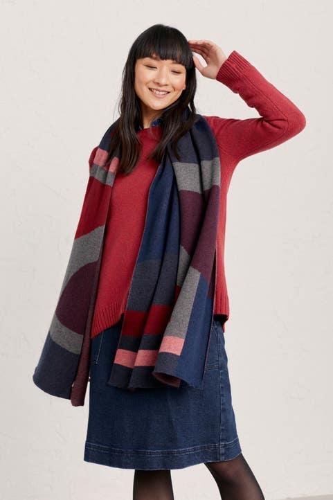 Inkcap Blanket Shawl  Model Image