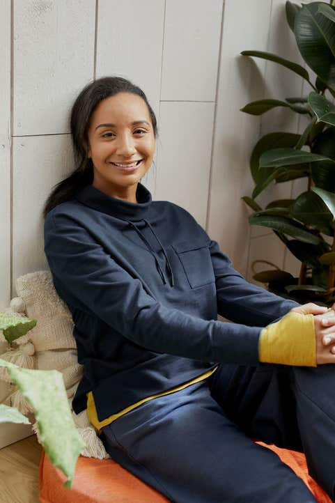 Bay Morning Sweatshirt Model Image