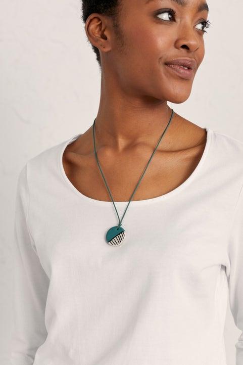 Slip And Glaze Necklace  Model Image