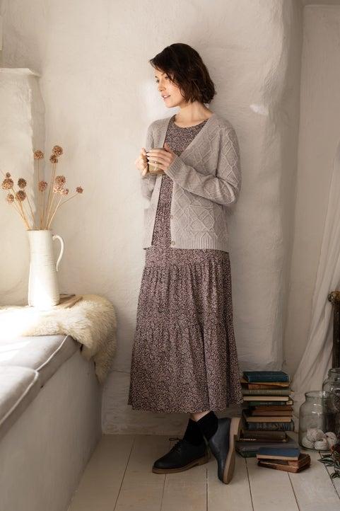 Long Sleeved Line Strokes Dress Image
