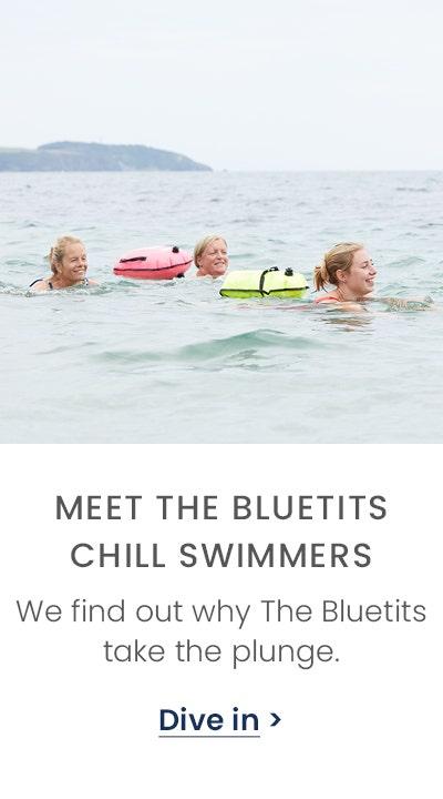 Meet the bluetits chill swimmers