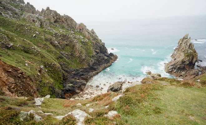 Photo of the coast and cliffs